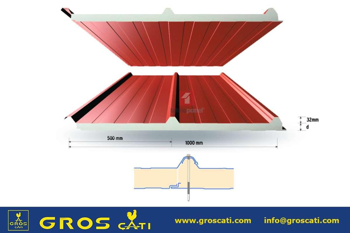 Poliüretan Sandaviç Çatı Paneli 4 cm